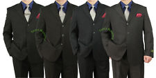 Sharp 2pc Men 3B. Pinstripe Dress Suit-Black, Brwon, Navy, Gray-Size 36-72 tb01