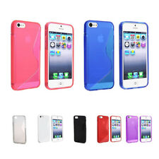 TPU Rubber Skin Case Compatible with Apple iphone5/5S cream N6L1