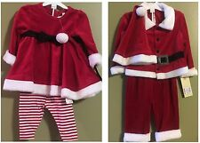 Santa Suit with Hat ~ Boy or Girl ~ 3Pc Velour Christmas Suit ~ New with Tags!!