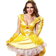 Halloween Belle Cosplay Costume Beauty and The Beast Adult Princess Fancy Dress