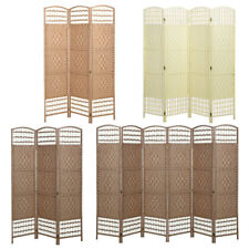 Hand Made Wicker Folding Room Divider Separator Privacy Screen Panel