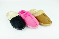 Womens Faux Shearling Scuff Mule Slippers Soft Cozy Fluff (1411)