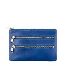 Status Anxiety Molly Womens Leather Purse Wallet in Black, Royal Blue
