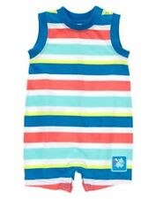 NWT Gymboree Hippos and Bows boys Striped Romper 3 6months