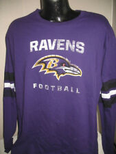 NFL Baltimore Ravens Football Long Sleeve Team Logo T Shirt Mens Majestic