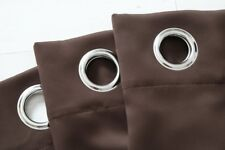 "Grommet 54"" x 63"" Thermal Insulated  BlackOut Curtain Set Brown Window Panel Set"