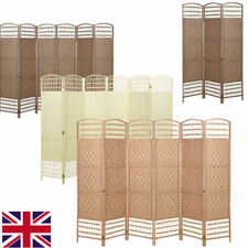 HAND MADE WICKER ROOM DIVIDER/SEPARATOR/PRIVACY SCREEN Folding Room Dividers