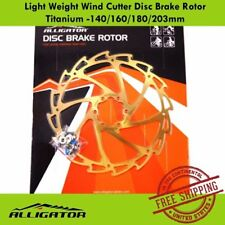 ALLIGATOR Light Weight Wind Cutter Disc Brake Rotor Titanium -140/160/180/203mm