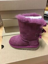 Authentic Uggs - Bailey Bow Bougainvillea - Little Kid Size 7-11