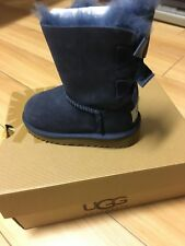 Authentic Uggs - Bailey Bow Navy - Little Kid Size 7 - 12