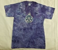 New Christian 100% Cotton T-Shirt Hand Tie Dyed in USA Star David/Cross Purple