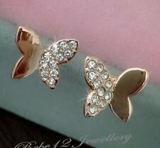 Simulated Diamond/Butterfly Stud Earring/RGE705