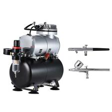Gravity/Suction Dual-Action AIRBRUSH SET Air Compressor Spray Paint Hobby Craft
