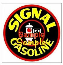Signal  Gasoline Vintage Signs Vinyl Sticker Decal Motor Oil Gas Globes