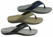 NEW SCHOLL ORTHAHEEL WAVE II MENS COMFORT ORTHOTIC THONGS WITH SUPPORT