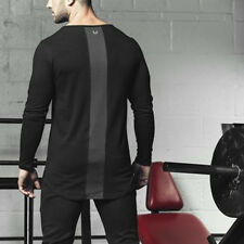 Autumn Winter Man Gyms T-shirt Fashion Long sleeved casual fit o-neck t shirt