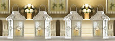 "White Gazebo Wedding Candle Lantern 9 1/2"" Tall (Set of 4) Event Supplies 14617"