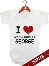 I Love My Big Brother GLITTER  (Personalised) - Baby Bodysuit / Vest /Playsuit