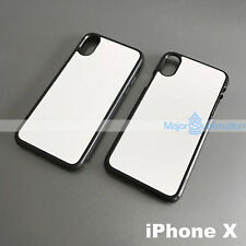 Lot 10 Black Plastic or Rubber TPU Sublimation Blank Cases For Apple iPhone X