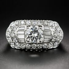 4.6CT White Topaz Women 925 Silver Wedding Jewelry Engagement Ring Size 6-10