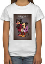 Mickey and Minnie Mouse Elderly Old cool Kids Boy Girls Unisex Top T-Shirt 678