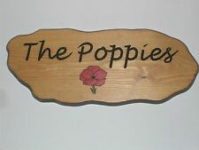 Illustrated Wooden House name signs / plaques hand carved