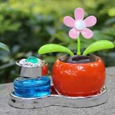 Solar Powered Perfume Flower Swinging Animated Dancer Toy Car Decoration CA