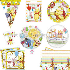 Winnie the Pooh Party Supplies Boy Girl - Plates, cups, napkins etc - Free P&P