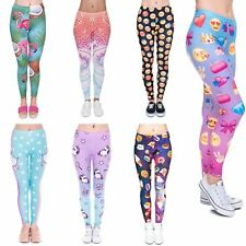 Unicorn Emoji Stretchable Yoga Leggings Gym Fitness Running Pilates Pants