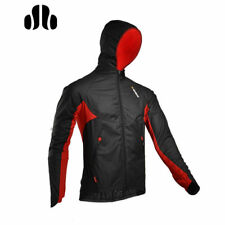 Sobike Cycling Long Jersey Wind Jacket Black Red Coat with Hood