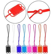 Detachable Lanyard Cell Phone Case Silicone Holder Neck Strap With ID Card Slot