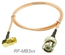 SMA Right-Angle Male to BNC Male 50-Ohm RG316 Coax Low Loss RF Cable