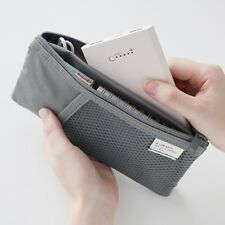 Livework Mesh Pocket Stationery Pen Pencil Case Cosmetic Toiletry Slim Pouch Bag