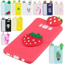 2017 New Squishy 3D Soft Silicone Cat Bear TPU Phone Case Cute Cover For Samsung