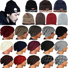 Men Women Crochet Knit Baggy Beanie Hat Skull Winter Warm Chic Slouchy Ski Cap