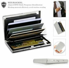 RFID Blocking Credit Card ID Holder Stainless Steel Slim Money Travel Wallet USA
