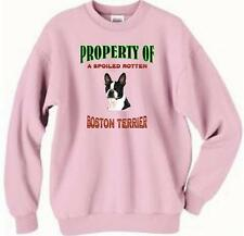 Dog Sweatshirt - Property of a Spoiled Rotten Boston Terrier T Shirt Available 4