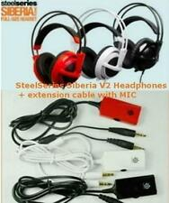 New SteelSeries Siberia V2 Full-Size Headband Headset + extension cable