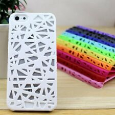 Hollow Bird's Nest Rubberized Plastic Hard Back Case Cover For iPhone 5 5s SE