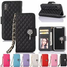 Luxury Flower Flip Wallet Leather Case Cover w/Strap For Apple iPhone 7 8 6 5S 4