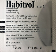 Step 1 Habitrol Nicotine Patches 21mg INDIVIDUAL Patches buy more save $$$ 8/19