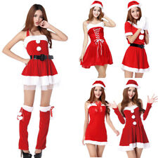 Womens Miss Santa Christmas Costume Ladies Mrs Claus Father Fancy Dress Outfit