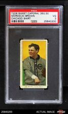 1909 T206 Mordecai Brown Chicago Cubs PSA 3 - VG