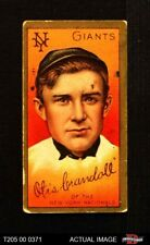 1911 T205 Doc Crandall T in Otis is crossed on Signature Giants GOOD