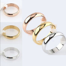 Fashion 4mm Stainless Steel Polished Ring Women Wedding Engagement Party Sz5-13