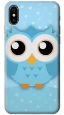 Cute Blue Owl Phone Case for iPhone X 8 7 6 5 4 Plus SE 5c 6s 5s 4s +