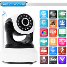 Wireless 720P Pan Tilt Network Security IP Camera Night Vision WiFi Webcam