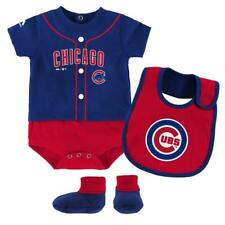 """Chicago Cubs Newborn/Infant """"Tiny Player"""" 3-Piece Creeper, Bib and Booty Set"""