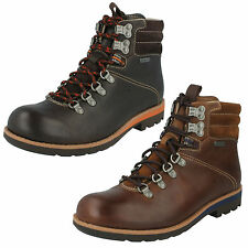 MENS CLARKS PADLEY ALP GTX LACE UP LEATHER WATERPROOF HIKING STYLE ANKLE BOOTS
