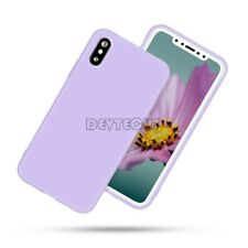 For iphone X Silicone Cute Candy Pastel Rubber Gel Glossy 360° Back Case Cover
